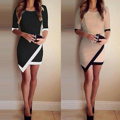 Sexy Women Summer Bandage Bodycon Asymmetrical Evening Party Cocktail Mini Dress