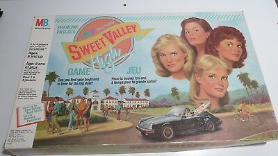 Milton Bradley Francine Pascal SWEET VALLEY HIGH Board Game 100% Complete