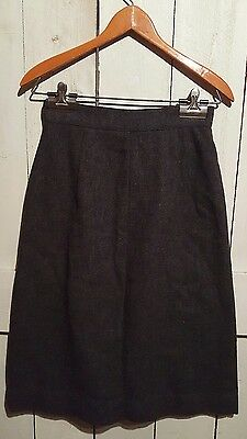 "Vintage SEARS Mates Skirt Dark Gray Juniors Size 9 Waist 23"" Runs Xsmall"
