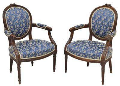 (PAIR) LOUIS XVI STYLE ARM CHAIRS, 19th Century ( 1800s )