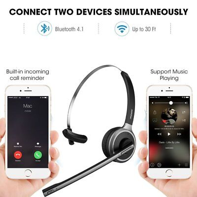 MPOW Over Head Wireless Bluetooth Headset Headphone For Driver Free Shipping