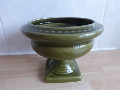 "Dartmouth pottery 261A, vintage green urn about 4"" high."