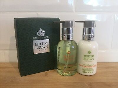 Molton Brown Lime & Patchouli Hand Wash & Lotion Set (2 x 100ml) - NEW