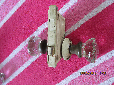 Antique Victorian lock set clear glass