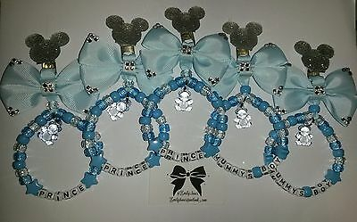 Personalised pram charms with mickey/minnie mouse head