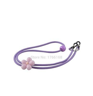 Childs Girls Glasses Safety Cord Chain Purple Flower Children