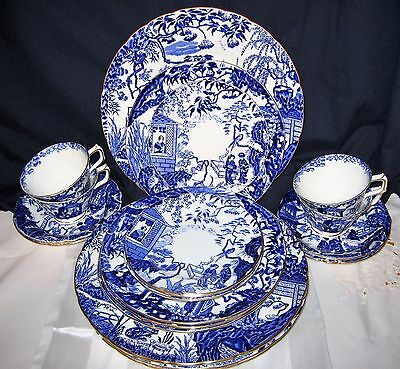 Royal Crown Derby - Blue Mikado -  4 Place Settings (20pc Set)