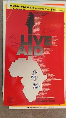 Led Leppelin The Who Stones Mccartney Queen U2 Dylan  Autographed Concert Poster