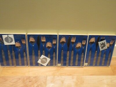 Konge tinn Norwegian Pewter 4 5-Piece Place Settings in Original Boxes 20 pieces