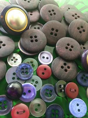 Purple Plastic Buttons Lot of 50count