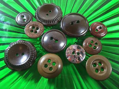 Bakelite Buttons Lot of 10count
