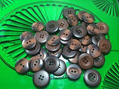 Brown Plastic Buttons Lot of 35count