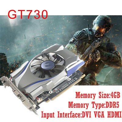 4GB 128Bit PCI Expansion Port Game Graphics Card for GT730 4GB GDDR5 Brand New