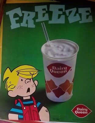 Vintage Dennis the Menace - Dairy Queen poster