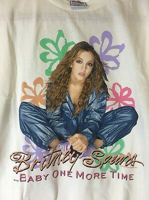 Rare Britney Spears 1999 Baby One More Time First Tour Concert T Shirt XL
