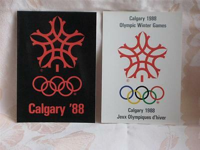 Lot Of 6 Postcards, 1988 Olympic Winter Games In Calgary, Alberta, Official