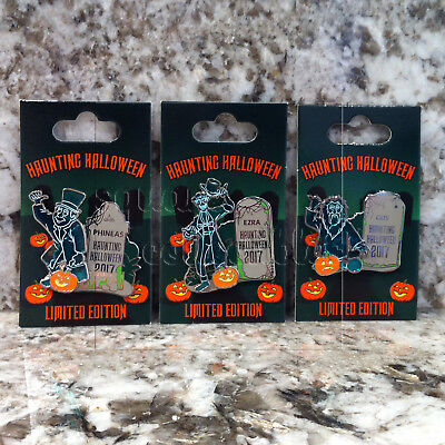 Disney Parks Haunted Mansion Hitchhiking Ghosts Limited Edition Pin Set of 3