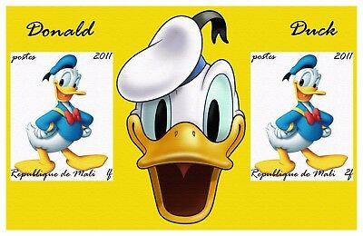 Mali 2011 12 Sheets Imperf Disney Donald Duck Animation