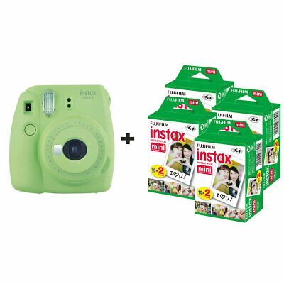 Fujifilm Instax Mini 9 Instant Camera with 80 Shots - Lime Green