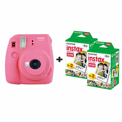 Fujifilm Instax Mini 9 Instant Camera with 40 Shots - Flamingo Pink
