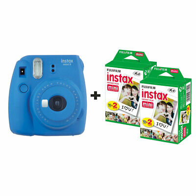 Fujifilm Instax Mini 9 Instant Camera with 40 Shots - Cobalt Blue