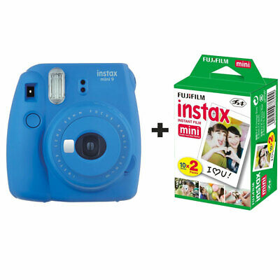 Fujifilm Instax Mini 9 Instant Camera with 20 Shots - Cobalt Blue
