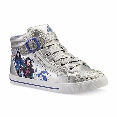 New Youth Disney Descendants High Top Sneakers Style 79163 Silver 126j tr
