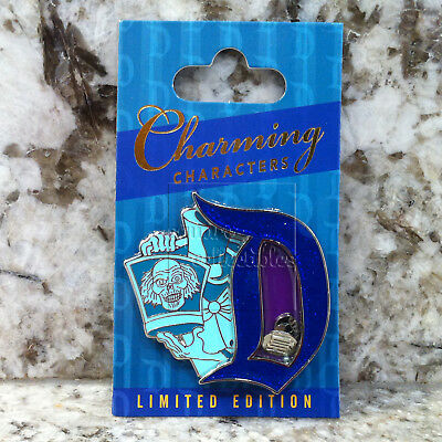 "Disneyland Charming Characters ""D"" Pin of the Month Haunted Mansion Hatbox Ghost"