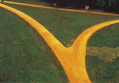 "CHRISTO (1935) ""Wrapped Walk Ways, 1977-78"" orig. sign. card / autograph"