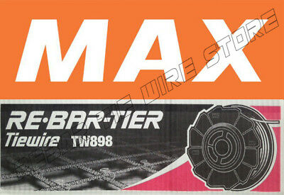 TW898 Max Rebar Tie Wire 50 Roll RB392 RB395 RB397 RB398 RB515 RB517 RB518 CASE