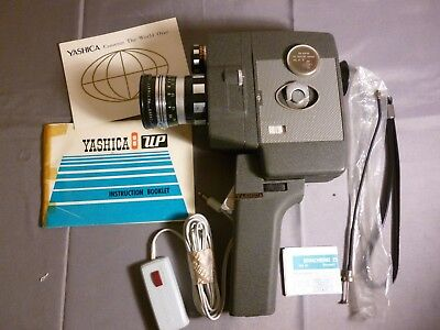Yashica 8 Up Vintage Film Movie Camera Near/as New Cosmetic Cond