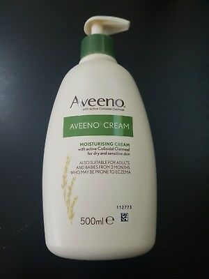 Sale - Aveeno Cream With Active Colloidal Oatmeal Dry Or Sensitive Skin 500ml