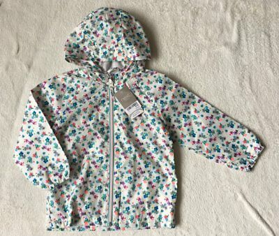 ***BNWT Next girls Ditsy rain coat jacket 3-4 years***