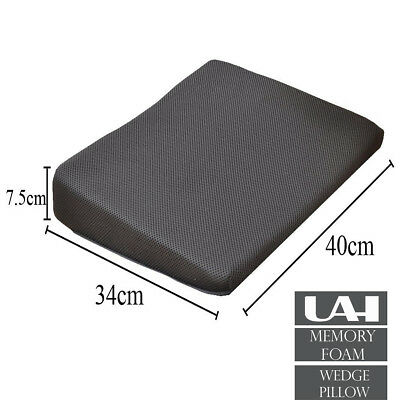 MEMORY FOAM Wedge Cushion for Back Support and Height Boost - Washable 3D Zip Co