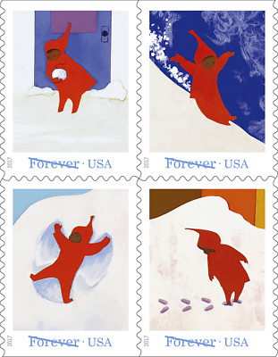 Scott #5243-46 The Snowy Day (Booklet Block of 4) 2017 Mint NH