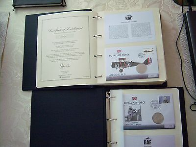 raf coin cover collection in two  covers plus lots of extras - all mint see list