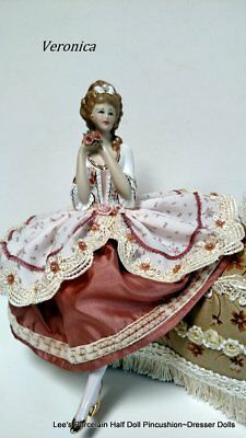 Pincushion Half Doll, Boudoir Doll, Artist Signed & Dated, New, Collectible