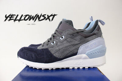 35ca930d6efd Asics Gel Lyte Mt Sz 10 Carbon Light Grey Navy Blue Trail Running Hl7Z1 9797