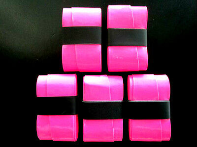 5 Hot Pink Replacement Overgrips over grip tennis soft top quality pro grip