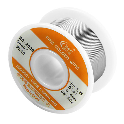 Solder Wire Electrical Soldering Sn 60 Pb 40 Tin Lead Rosin Core Low Melt 0.6mm