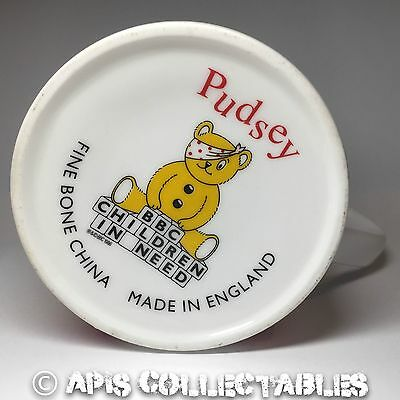 ⭐️ Vintage 1986 PUDSEY BEAR Bone China BBC CHILDREN IN NEED Wogan CHARITY MUG ⭐️