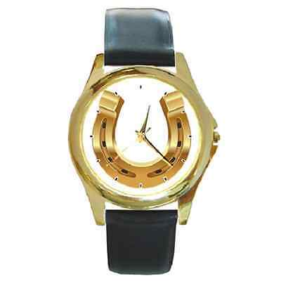 Horse Shoe Customised Name Round Watch *** Super Gift***any Text You Want
