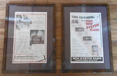 Antique Radio adverts - The Australian Newspaper 1928 & 1930
