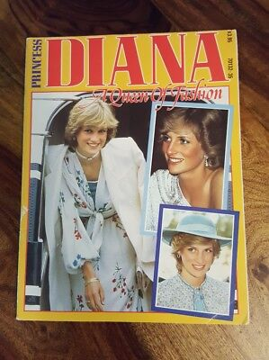Vintage Princess Diana A queen of fashion magazine (made in England)