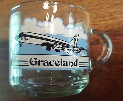 Rare vintage Elvis Graceland Cup - Lisa Marie plane (made in usa)