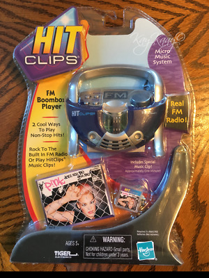 Hasbro Tiger HitClips HIT CLIPS FM Boombox Player PINK DON'T LET ME GET ME