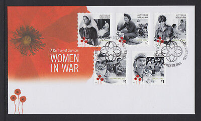 Australia 2017 : A Century of Service - Women in War, First Day Cover.