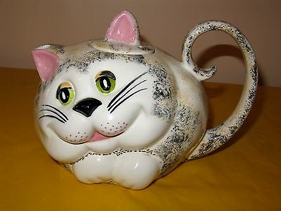 VINTAGE Novelty CARLTON WARE LARGE CAT SHAPED TEA POT , crazing&firing flaw