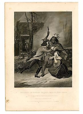 INCIDENT IN CHERRY VALLEY-FATE OF JANE WELLS, Revolutionary War/NY, Engraving