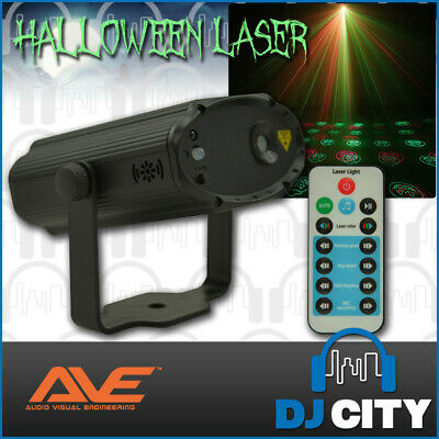12 Pattern Halloween Laser Red & Green Lights with IR Remote 100 Laser Beams